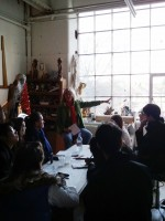Studio visit: Christy Symington and BA: Architecture; Spaces and Objects students