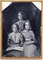 3 Sisters, 2012-2013 (acrylic and emulsion on paper mounted on board, 60x43cm)
