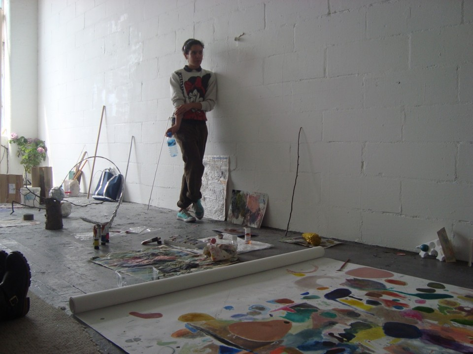 Revati Mann, in the Adrian Carruthers Studio, Acme Studios, Childers Street, London, May 2009.
