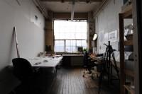 Dryden Goodwin, Childers Street studio. Photo: Hugo Glendinning.