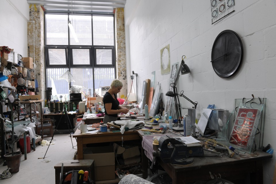 Eryka Isaak, Childers Street studio. Photo: Hugo Glendinning.