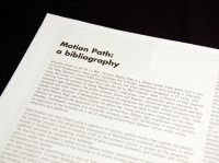 Motion Path: a bibliography